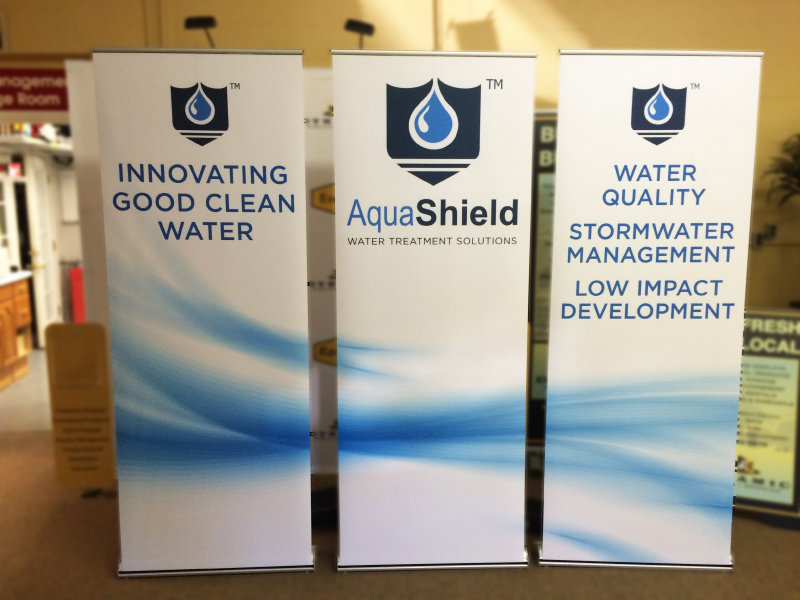 Aquashield bannerstands