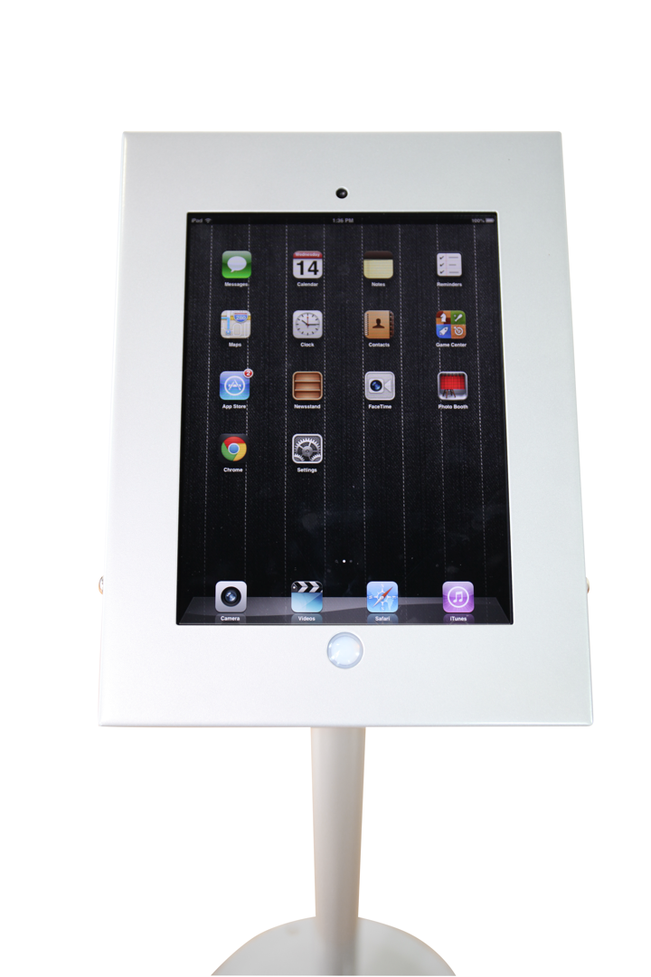 iPad-Holder silver vertical